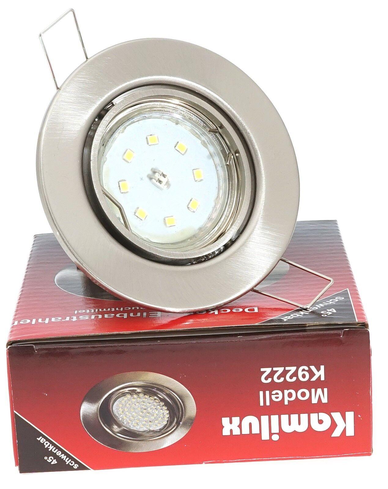 5-15er SET TOM 230V LED SMD 5W  Einbaustrahler Einbauspots Deckenspots
