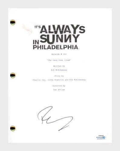 Rob McElhenney Signed IT'S ALWAYS SUNNY IN PHILADELPHIA Jihad Ep202 Script ACOA