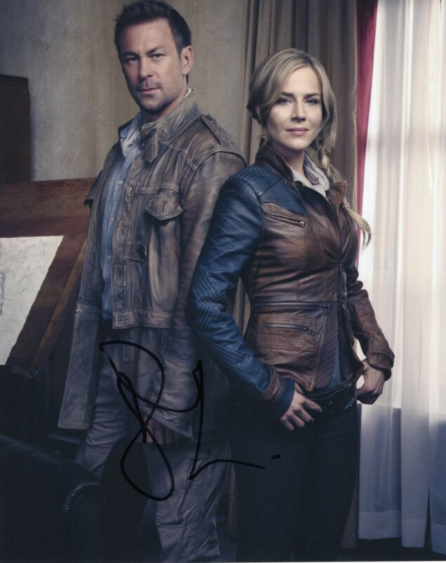 Grant Bowler Signed Defiance 8x10 Photo w/COA Chief Lawkeepe #2
