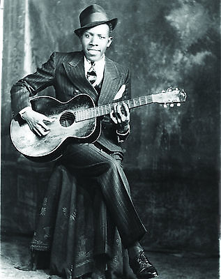 Robert Johnson - Blues Legend, 8x10 B&W Photo