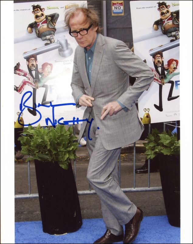 "Bill Nighy ""Flushed Away"" AUTOGRAPH Signed 8x10 Photo"