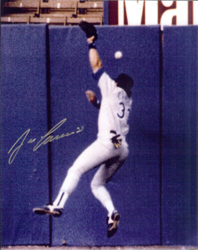 Jose Canseco autographed photo of ball hitting him on the head for a home run *