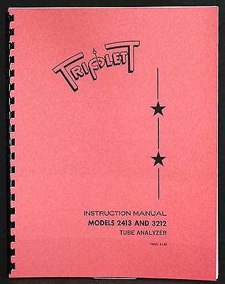 Triplett Tube Tester 3212 2413 Manual With Tube Data