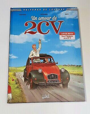 Dedicacé plein page couleur Voitures de légende T2 - Un Amour de 2 CV - EO - TBE