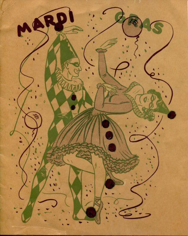 1949 Galveston Texas Mardi Gras Festival Program Scarce Vintage