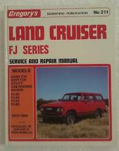 FJ Land Cruiser******1983 Gregory's #211 Service Manual FREE POST Bundaberg Central Bundaberg City Preview