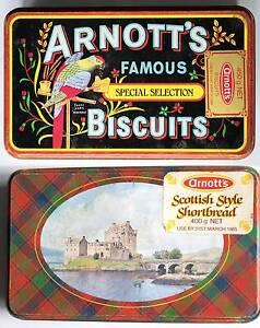 1980s Arnott's Shortbread & Assorted Biscuit Tins (Vintage) Zetland Inner Sydney Preview