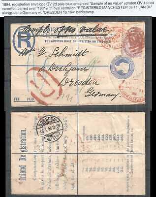 B1063 1894 GREAT BRITAIN !!! VERY RARE USED ENVELOPE QUEEN VICTORIA QV