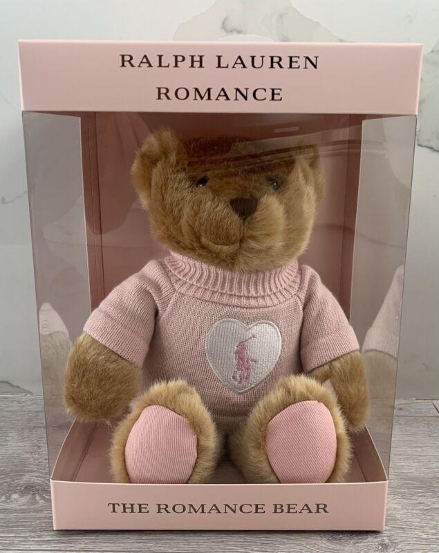 2021 RALPH LAUREN ROMANCE POLO TEDDY BEAR PINK SWEATER TAN BROWN NEW IN BOX