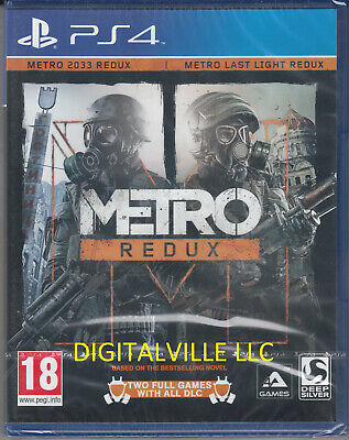 Metro Redux PS4 Remastered Metro 2033 Metro Last Night Brand New Factory Sealed