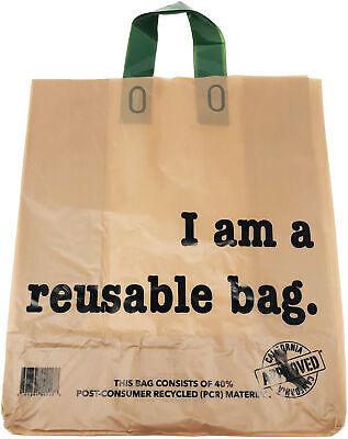 Reli. Shopping Bags Reusable 250 Count Bulk 2.25 Mil Thick Kraft