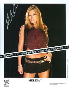 MELINA-SEXY-SIGNED-COLOR-8x10-PHOTO-WWE-WRESTLING-DIVA-HOT-SHORT-SKIRT