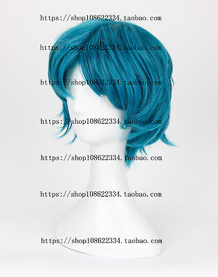 Mizuno Ami Sailor Moon Short Blue Anime Costume Cosplay Wig +Wig CAP