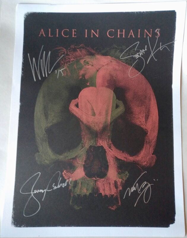 Alice in Chains Autographed Lithograph Poster 2015