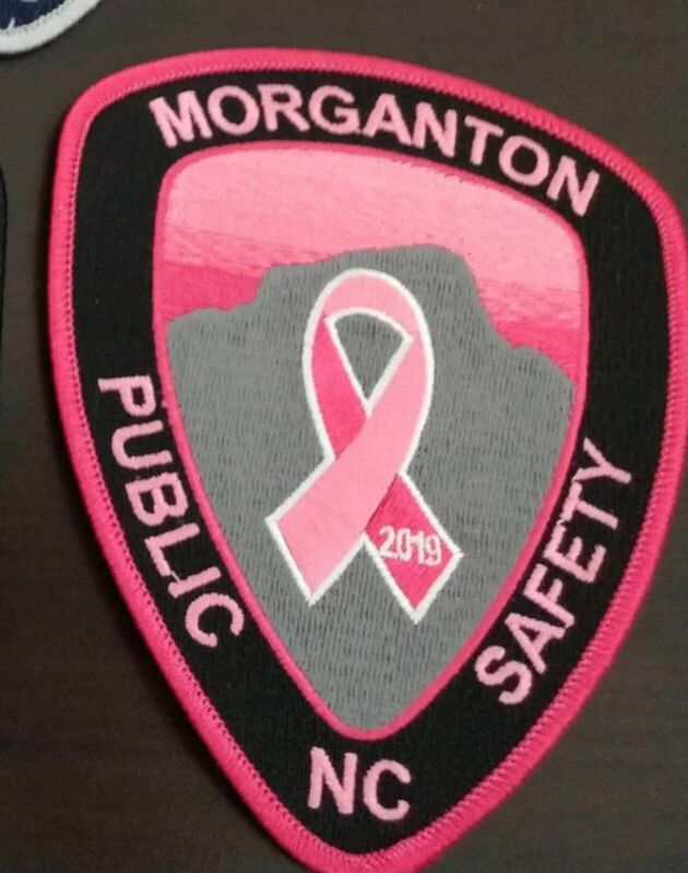 First Edition 2019 Morganton Public Safety Police Breast Cancer Pink Patch