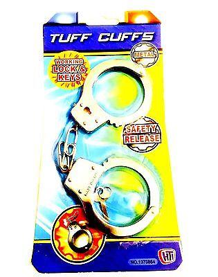 Toys Metal Hand Cuffs Fancy Dress Children Pretend Play For Kids.
