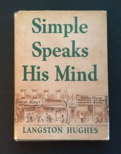 Langston Hughes SIGNED Simple Speaks His Mind  HBDJ African American Interest