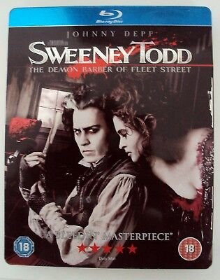 SWEENEY TODD STEEL BOX BLURAY for sale  Shipping to South Africa