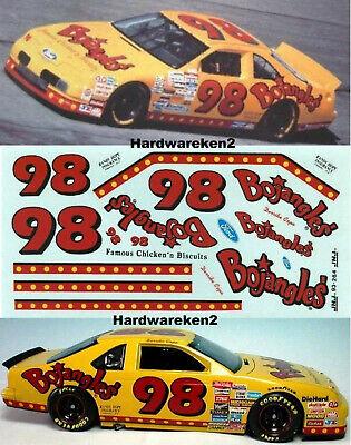 NASCAR DECAL #98 BOJANGLES 1993 FORD THUNDERBIRD DERRIKE COPE