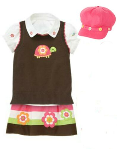 🌺 RARE Gymboree Growing Flowers 4-pc Outfit NWT Size 5-6 Vintage sweater hat 🌺