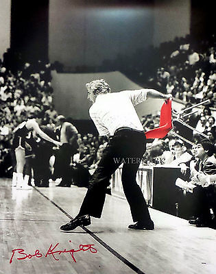 BOBBY KNIGHT INDIANA HOOSIERS BASKETBALL THROWING CHAIR 8X10 REPRINT PHOTO RP