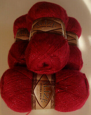 400g ALIZE GOLD SIMLI,GORGEOUS SOFT&SPARKLY MOHAIR BLEND KNITTING YARN,no.649