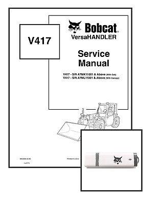 Bobcat V417 Versahandler Workshop Repair Service Manual 6904956 Usb Download