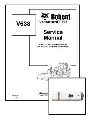 Bobcat V638 Versahandler Workshop Repair Service Manual 6904755 Usb Download