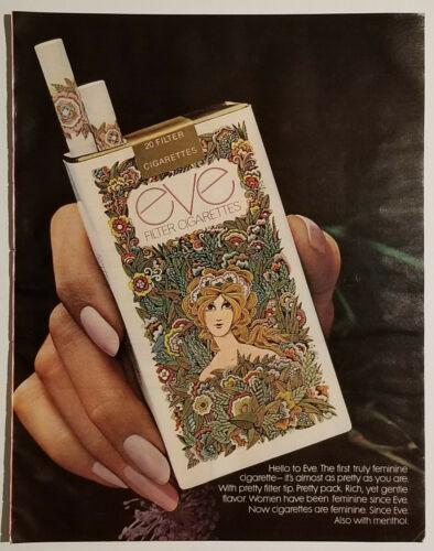 Vintage EVE Filter Cigarettes 1971 Large Magazine Ad