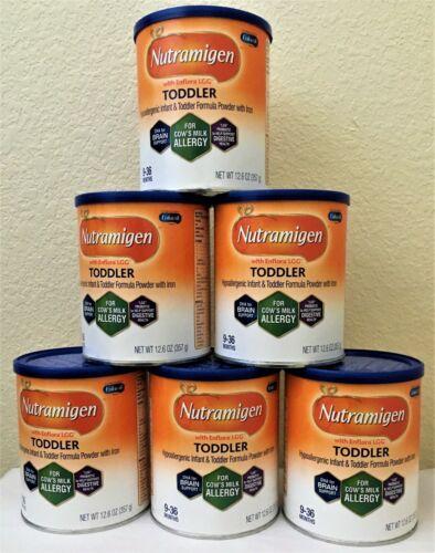 6 cans 12.6 Oz. Nutramigen Toddler Powder Formula Exp. Dec. 2021 - Fast Shipping
