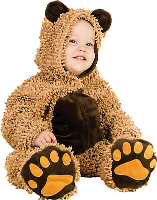 Chenille Teddy Bear Princess Paradise Toddler Costume  - Toddler Bear Costume