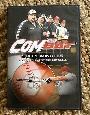 Combat Sixty Minutes To Better Slowpitch Softball DVD - RARE! FREE