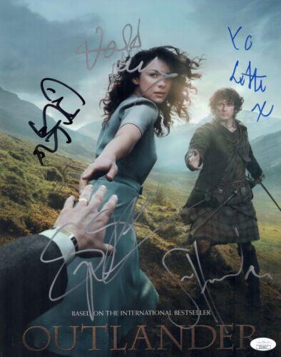 OUTLANDER Sam Heughan Cast X5 Signed 11x14 Photo Autograph JSA COA Cert