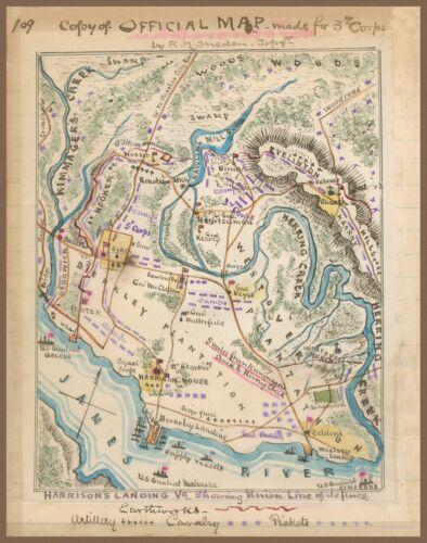 1862 Civil War Map, Harrison