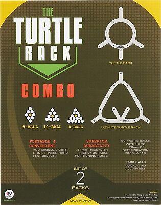 Turtle Balls (Turtle Rack Combo 8 Ball and 9 & 10 Racks Pool Billiards Balls w/ FREE)