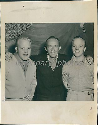 1961 Bing Crosby With Sons Dennis And Philip Original News Service Photo