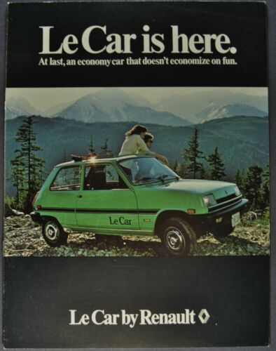 1979-1980 Renault Le Car Catalog Sales Brochure Excellent Original