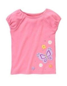 NWT-Gymboree-Butterfly-Blossoms-Pink-Tee-Sizes-5-6-7-8-9