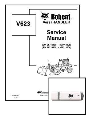 Bobcat V623 Versahandler Workshop Repair Service Manual 6901675 Usb Download