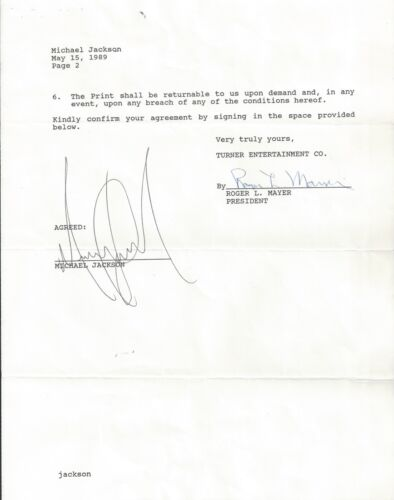 MICHAEL JACKSON SIGNED CONTRACT PSA/DNA CERTIFIED AUTHENTIC AUTOGRAPHED RARE
