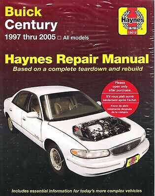 1997 - 2005 Buick Century All Models Haynes Service Repair Manual 6288