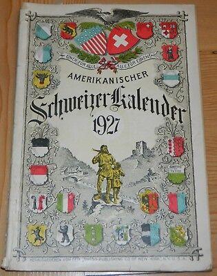 Amerikanischer Schweizer Kalendar 1927 German Language Swiss American Almanac for sale  Henderson