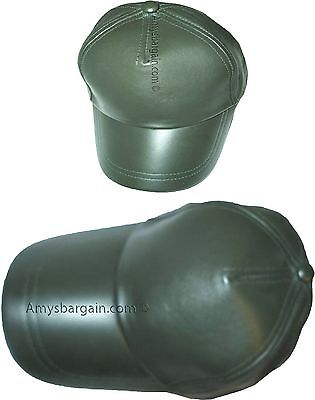 Lot of 2 New leather Baseball caps Green leather cap Head wear fashion hat BNWT