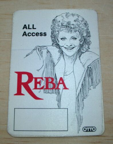REBA MCENTIRE All Access Backstage Pass Late 70