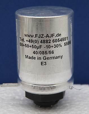 Dreifach - Schraubelko, Radioelko  50+50+50µF 550V/600V FTCap, Allemagne