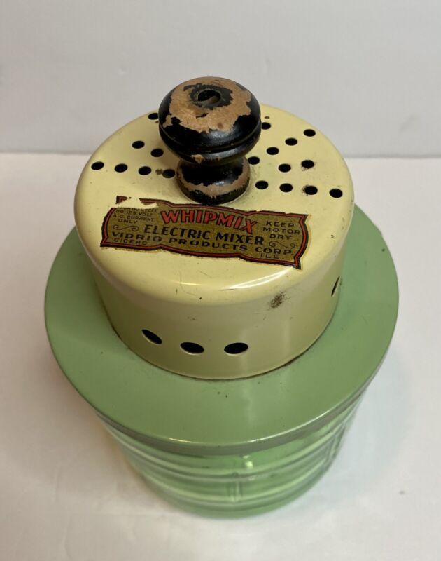 Vidrio Products Whipmix Cicero Electric Mixer Uranium Glass Jar