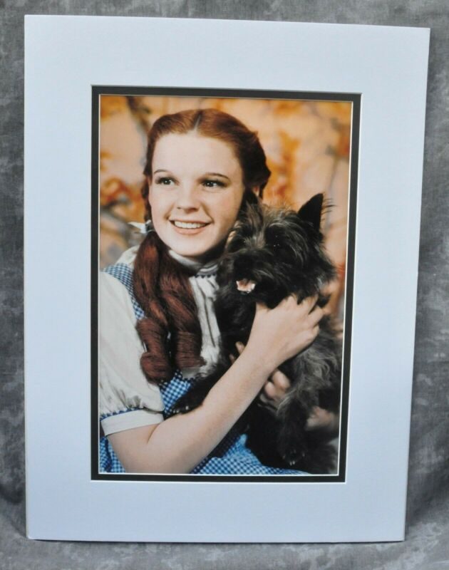 "Judy Garland Double-Matted Heavy Stock Photo Display 12"" x 16"" ""Wizard of Oz"""
