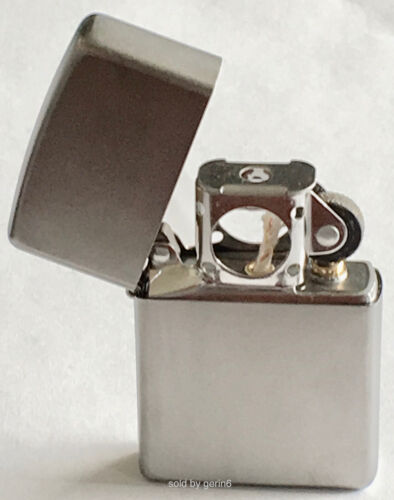Zippo Windproof Satin Chrome Lighter With Pipe Insert, 205 Pipe, New In Box