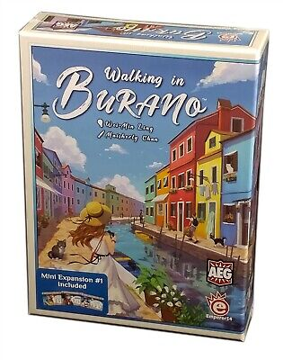 AEG Games, Walking in Burano Board Game, New and sealed (Inglés)