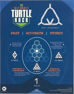 Turtle Balls (Turtle Rack Ultimate 8, 9 & 10-Ball Rack Pool Billiards Balls w/ FREE)